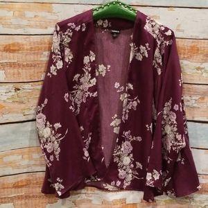 NWOT NEVER WORN Torrid 1/2X Purple Satin Kimono!